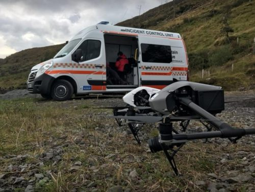 Donegal mountain rescue team drone